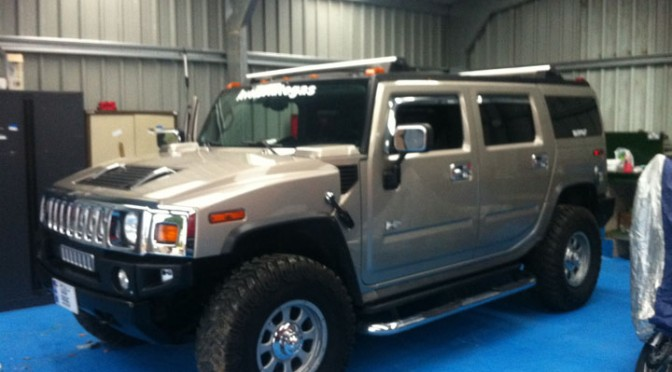 Hummer LPG Conversion Installation