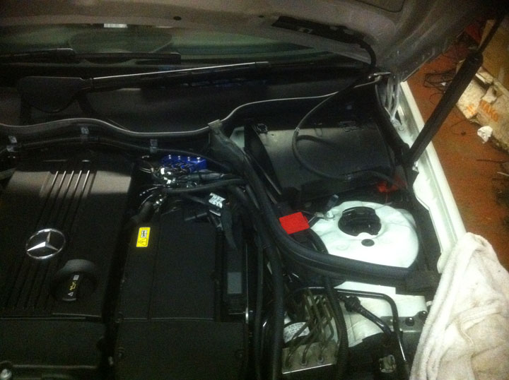 Mercedes Benz LPG Conversion Installation